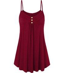 buttoned cami trapeze dress