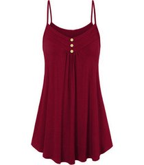 buttoned cami trapeze dress