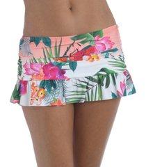 la blanca printed ruffled skirted bottoms women's swimsuit
