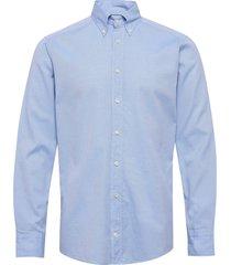 royal oxford shirt skjorta business blå eton