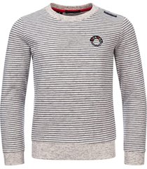 common heroes grey mêlee sweater met fijn streepje voor jongens in de kleur