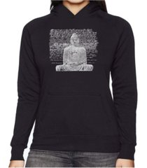 la pop art women's word art hooded sweatshirt - zen buddha