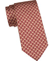 animal-print silk tie