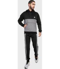 sudadera hombre conjunto chaqueta gris negra corte inglés