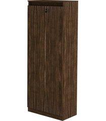armã¡rio alto 2 portas com chave nogal tecno mobili - bege - dafiti