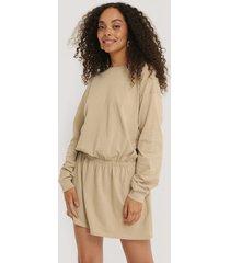 na-kd jersey skirt dress - beige