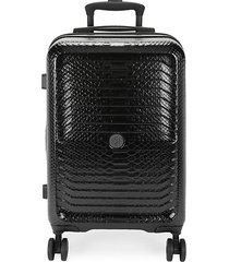 embossed 21.5-inch carry-on suitcase