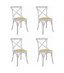 conjunto 04 cadeiras katrina branca rivatti
