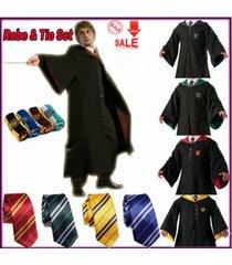 harry potter cosplay cape costume adult gryffindor robe cloaktie fancy dress