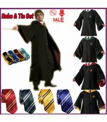 harry potter cosplay cape costume adult gryffindor robe cloaktie fancy dress