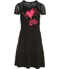 love moschino dress w/heart splash