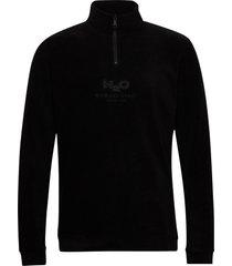 blåvand ii fleece half zip sweat-shirt tröja svart h2o