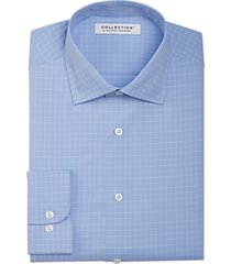 collection by michael strahan active wear classic fit dress shirt blue check