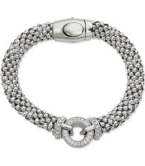 diamond circle mesh bracelet (1/3 ct. t.w.) in sterling silver