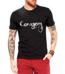 camiseta criativa urbana coragem masculina