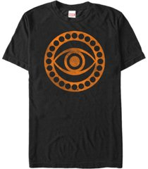 marvel men's dr strange distressed orange eye logo short sleeve t-shirt