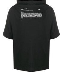maison margiela transhuman-print funnel-neck top - black