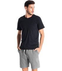 camiseta masculina manga curta raul