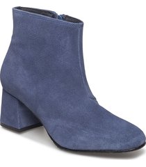 suede ankle boot shoes boots ankle boots ankle boot - heel blå ilse jacobsen