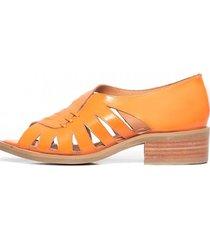 sandalias de cuero mielero c3 naranjo giani dafirenze