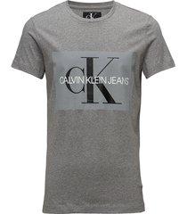 core monogram box lo t-shirts short-sleeved grå calvin klein jeans