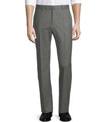 incotex matty straight-leg wool pants - royal blue - size 38