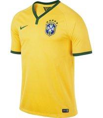 camiseta brasil hombre nike 575280-703 amarillo