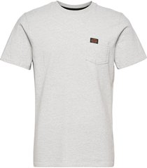 workwear pocket tee t-shirts short-sleeved grå superdry