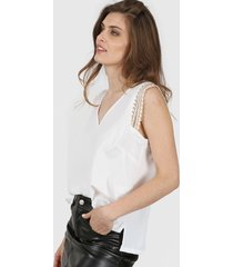 blusa blanca vindaloo lino crepe