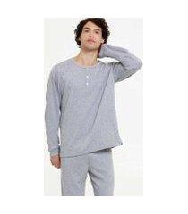 pijama lupo manga longa masculino