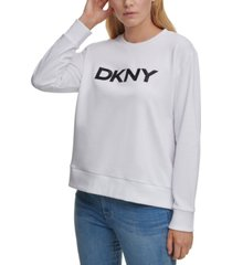 dkny sequined logo sweatshirt