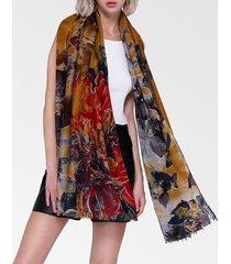 sciarpa calda traspirante traspirante in lino di cotone vintage vogue womens 180 * 90cm scialle oversize