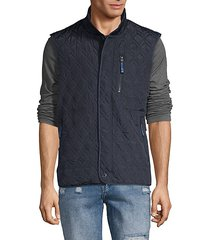 thomas diamond quilted vest
