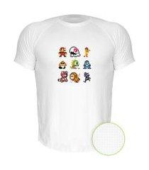 camiseta air nerderia e lojaria 8bits games branca