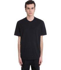 acne studios everrick t-shirt in black cotton