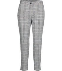 crop leisure trouser byxa med raka ben grå gerry weber