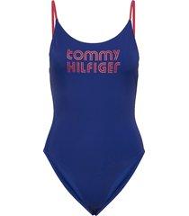 -piece high leg badpak badkleding blauw tommy hilfiger