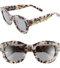 women's sam edelman 51mm tortoise cat eye sunglasses -