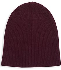 ribbed cashmere beanie