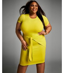 nina parker trendy plus size tie-front dress, created for macy's