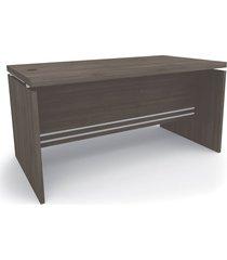 mesa diretor carvalho frances de madeira mã³veis kappesberg cinza - marrom - dafiti