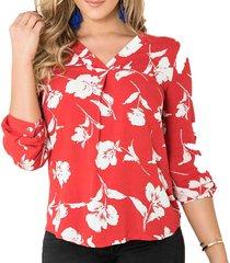 blusa lia rojo para mujer croydon