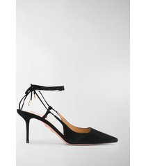 aquazzura rear tie fastening pumps