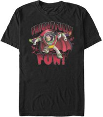 disney pixar men's toy story buzz light-year frightfully fun short sleeve t-shirt