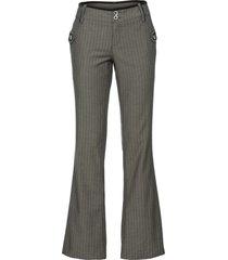 pantaloni eleganti gessati bootcut (verde) - rainbow