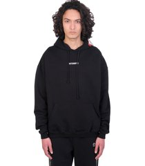 vetements sweatshirt in black cotton