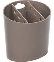 escorredor de talheres oval basic 13,8x10,5x14,4cm warm gray - 10840/0126 - coza - coza