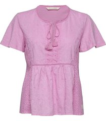 artful blouse blouses short-sleeved roze odd molly