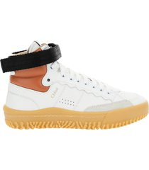 scarpe sneakers alte donna in pelle franckie