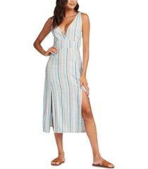 roxy juniors' anthena striped midi dress
